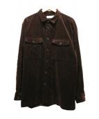UNIVERSAL PRODUCTS.(ユニバーサルプロダクツ)の古着「コーデュロイシャツ」|ブラウン