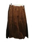 Dulcamara(ドゥルカマラ)の古着「コーデュロイスカート」|ブラウン