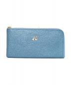 KITAMURA(キタムラ)の古着「ラウンドファスナー財布」|ライトブルー