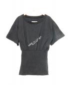 MM6(エムエムシックス)の古着「半袖カットソー」 ブラック