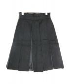 CELINE(セリーヌ)の古着「シルクカシミヤ混スカート」 ブラック