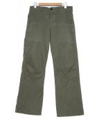 SOFIE DHOORE(ソフィードール)の古着「ワークパンツ」|グリーン