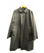 MACKINTOSH(マッキントッシュ)の古着「2WAYダブルクロスステンカラーコート」|ブラック