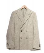 LARDINI(ラルディーニ)の古着「ダブルジャケット」|ベージュ