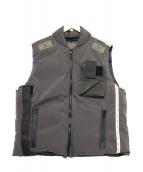 N.HOOLYWOOD(エヌハリウッド)の古着「ミリタリーダウンベスト」|ブラック