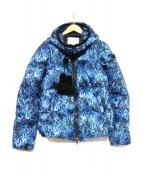 PEUTEREY(ビューテリー)の古着「ダウンジャケット」|ブルー×ブラック