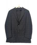 EDIFICE(エディフィス)の古着「チェックテーラードジャケット」 ネイビー