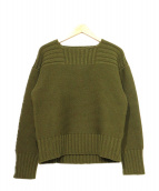 BUTCHER PRODUCTS(ブッチャープロダクツ)の古着「RED CROSS LONG KNIT」 グリーン