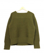 BUTCHER PRODUCTS(ブッチャープロダクツ)の古着「RED CROSS LONG KNIT」|グリーン