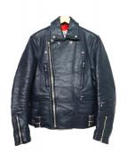 OR GLORY(オアグローリ)の古着「ライダースジャケット」|ネイビー
