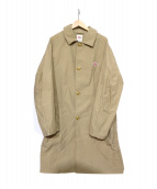 DANTON(ダントン)の古着「ナイロンタフタステンカラーコート」|ベージュ