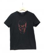 ALEXANDER McQUEEN(アレンキーサンダーマックイーン)の古着「スカルプリントTシャツ」 ブラック