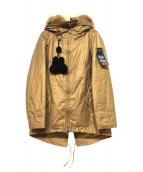 PEUTEREY(ビューテリー)の古着「フォックスファーダウンコート」|ベージュ