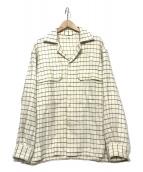 KAPTAIN SUNSHINE(キャプテン サンシャイン)の古着「チェックシャツ」|ベージュ