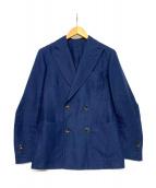RING JACKET(リングジャケット)の古着「リネンダブルジャケット」|ネイビー
