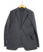 ESTNATION(エストネーション)の古着「シアサッカージャケット」 ブラック
