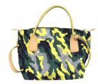 ROBERTA PIERI(ロベルタ ピエリ)の古着「2WAYショルダーバッグ」|グレー×イエロー×グリーン
