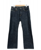 Stevenson Overall Co.(スティーブンソンオーバーオール)の古着「1ウォッシュデニムパンツ」|インディゴ