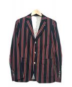 FRED PERRY(フレッドペリー)の古着「3Bジャケット」|ブラック×レッド