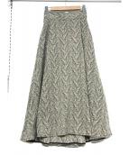 ELIN(エリン)の古着「マキシスカート」|ホワイト×ブラック