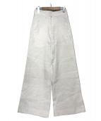 Deuxieme Classe(ドゥーズィエムクラス)の古着「リネンワイドパンツ」|ホワイト