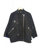 DIESEL(ディーゼル)の古着「カットオフライダースブルゾン」 ブラック
