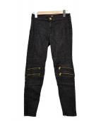 VERSACE(ヴェルサーチ)の古着「スキニーパンツ」|ブラック