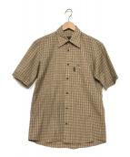 BURBERRY BLACK LABEL(バーバリーブラックレーベル)の古着「半袖チェックシャツ」 ベージュ