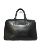大峡製鞄(オオバセウホウ)の古着「レザーボストンバッグ」 ブラック