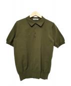 SLOANE(スローン)の古着「コットンニットポロシャツ」|グリーン
