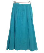 BALLSEY(ボールジィ)の古着「コットンボイルフレアギャザースカート」|ブルー