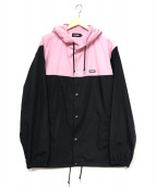 X-LARGE(エクストララージ)の古着「フーデッドジャケット」|ブラック×ピンク
