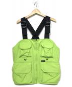 X-LARGE(エクストララージ)の古着「CHEST RIG VEST」|ライトグリーン