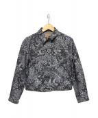 MARC JACOBS(マークジェイコブス)の古着「ブラックレーズデニムジャケット」|ブラック