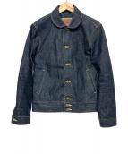 CALEE(キャリ)の古着「デニムコサックジャケット」|インディゴ