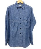 DUCK DIGGER(ダックディガー)の古着「シャンブレーシャツ」 ブルー