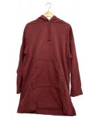 ()の古着「プルオーバーロングパーカー」|ワインレッド