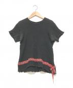 me ISSEY MIYAKE(ミー イッセイミヤケ)の古着「半袖ブラウス」|ブラック
