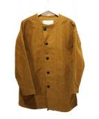 Brocante(ブロカント)の古着「ノーカラーコート」|ブラウン
