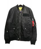 DIESEL(ディーゼル)の古着「ブルゾン」|ブラック
