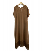 AMERI(アメリヴィンテージ)の古着「フリンジシアードレス」 ブラウン