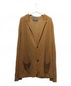 ROBERTO COLLINA(ロベルトコリーナ)の古着「Vネックカーディガン」 ブラウン