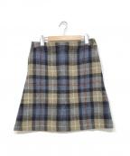 MACKINTOSH PHILOSOPHY()の古着「ツイードスカート」|ベージュ×ブルー