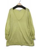 CELINE(セリーヌ)の古着「Vネックニット」|ライトグリーン