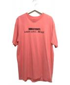 UNION LOS ANGELES(ユニオン ロサンゼルス)の古着「プリントTシャツ」|ピンク