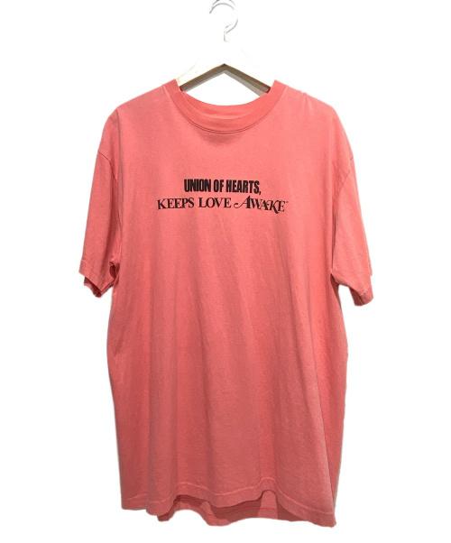 UNION LOS ANGELES(ユニオン ロサンゼルス)UNION LOS ANGELES (ユニオン ロサンゼルス) プリントTシャツ ピンク サイズ:3の古着・服飾アイテム