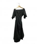SOFIE DHOORE(ソフィードール)の古着「ガウンシャツ」|ブラック