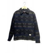 CALEE(キャリー)の古着「ウールジャケット」|ネイビー