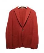 BOGLIOLI(ボリオリ)の古着「テーラードジャケット」 レッド
