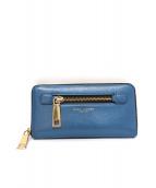 ()の古着「ラウンドファスナー財布」 ブルー